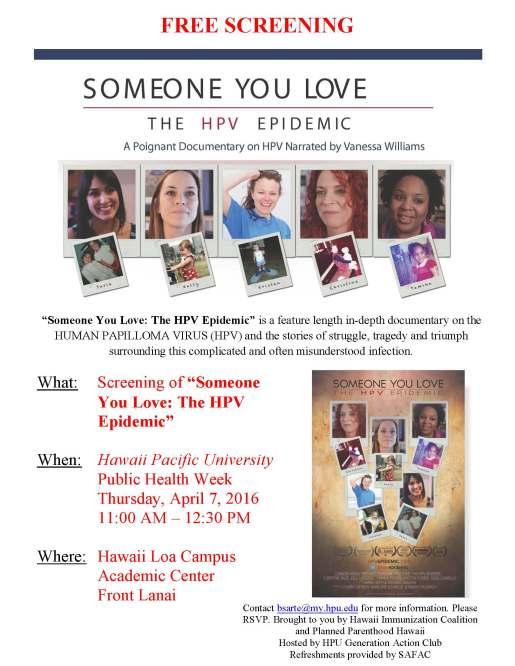 HPU Someone You Love Flyer