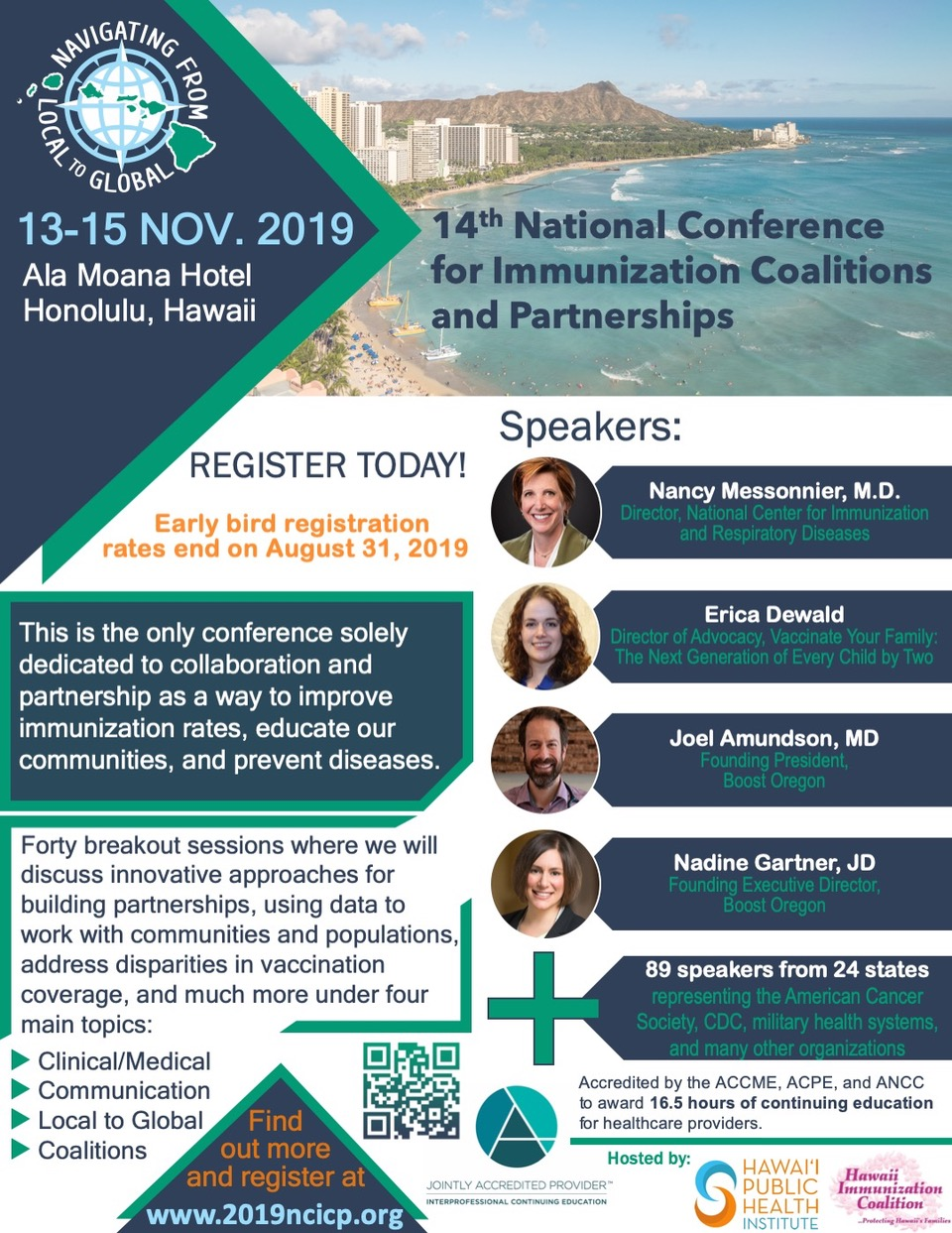 NCICP Early Bird Registration ends August 31, 2019! |